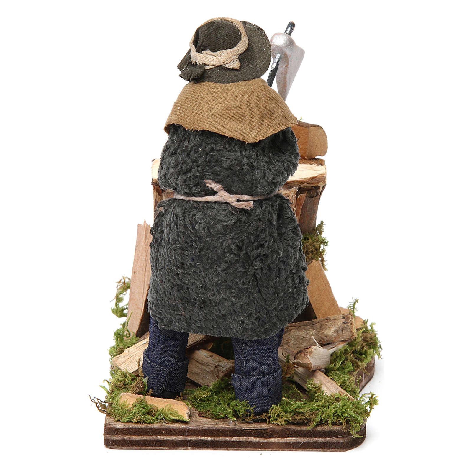 Leñador de terracota para belén de Nápoles 12 cm de altura media 4