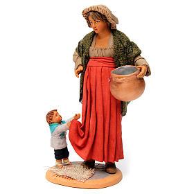 Donna incinta con bambino per presepe napoletano di 30 cm  s3