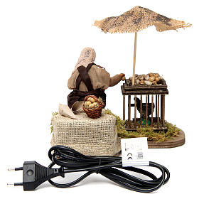 Moving man with basket of eggs and hen Neapolitan Nativity Scene 12 cm s4