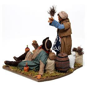 Moving woman beating her drunken husband Neapolitan Nativity Scene 30 cm s4