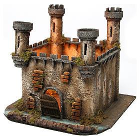 Castillo en Miniatura 4 Torres con Luz para Belén Napolitano 25x30x30 cm s2
