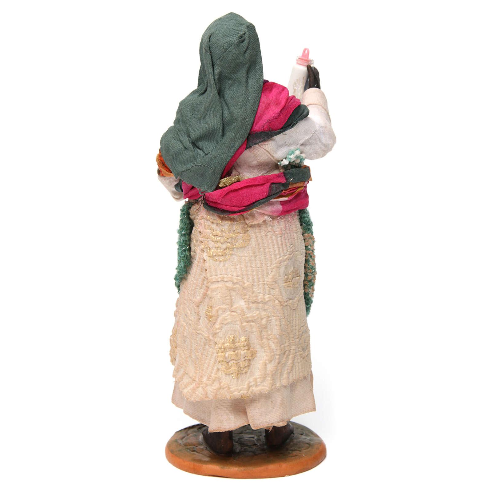 Zingara con bambino in braccio per presepe napoletano di 30 cm 4