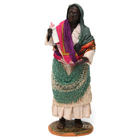 Gypsy with Child in arms for Neapolitan nativity of 30 cm s1