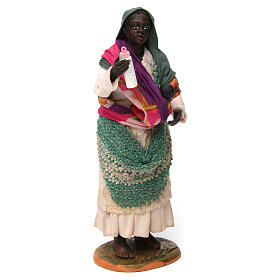 Gypsy with Child in arms for Neapolitan nativity of 30 cm s3
