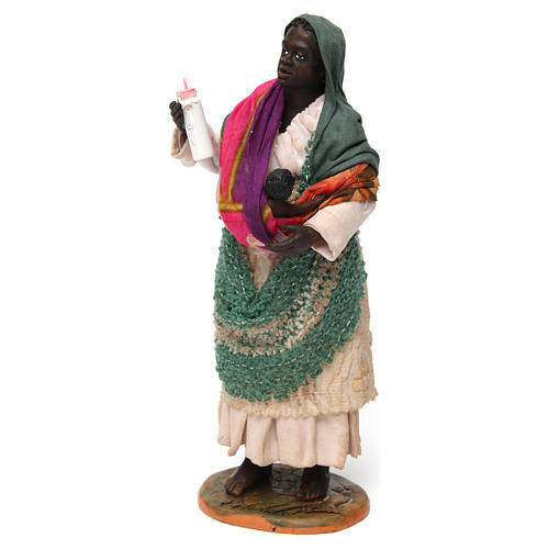 Gypsy with Child in arms for Neapolitan nativity of 30 cm 2