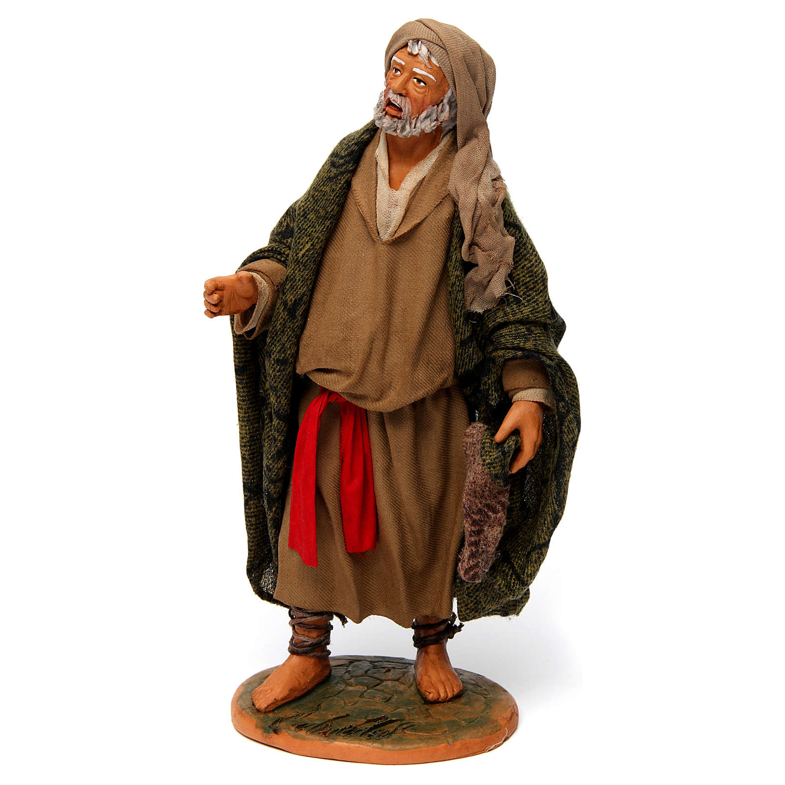 Old Man with Blanket for 30 cm Neapolitan nativity 4