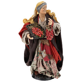 Woman with tomatoes for Neapolitan Nativity Scene 30 cm s1