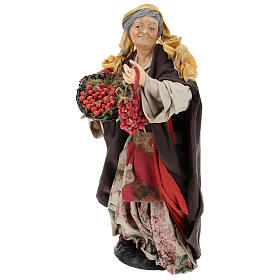 Woman with tomatoes for Neapolitan Nativity Scene 30 cm s3