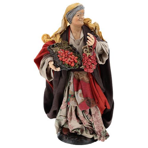 Donna con pomodori per presepe napoletano 30 cm 2