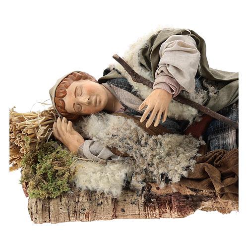 Sleeping shepherd for Neapolitan Nativity Scene 30 cm 2