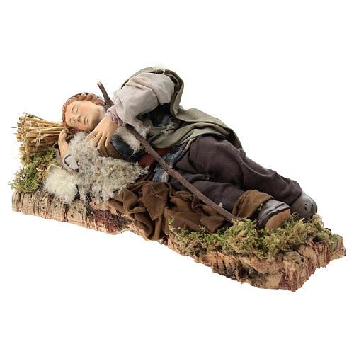 Sleeping shepherd for Neapolitan Nativity Scene 30 cm 3