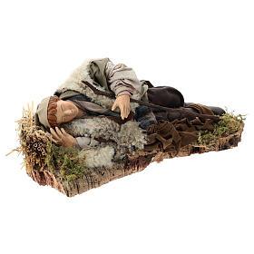 Hombre que duerme para belén de Nápoles 30 cm de altura media s4