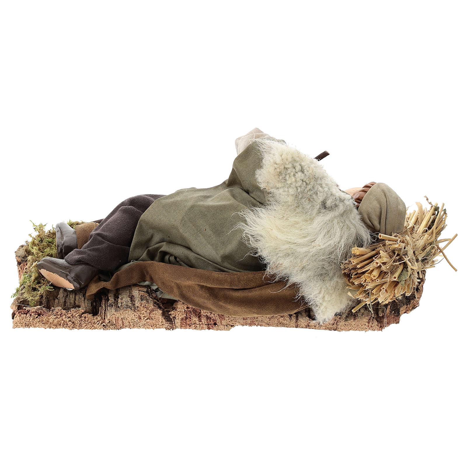 Sleeping man for Neapolitan Nativity Scene 30cm 4