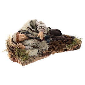 Sleeping man for Neapolitan Nativity Scene 30cm s4