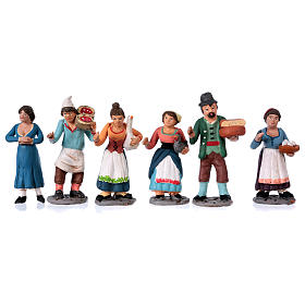 Figurines for Neapolitan Nativity Scene 36 pieces real height 10 cm s3