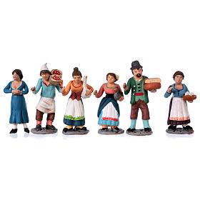 Personajes belén terracota 10 cm de altura media belén napolitano set 36 piezas s3