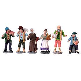 Personajes belén terracota 10 cm de altura media belén napolitano set 36 piezas s4