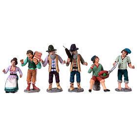 Personajes belén terracota 10 cm de altura media belén napolitano set 36 piezas s5