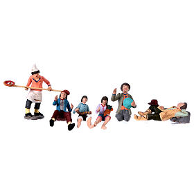 Personajes belén terracota 10 cm de altura media belén napolitano set 36 piezas s7