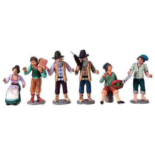 Personajes belén terracota 10 cm de altura media belén napolitano set 36 piezas 5