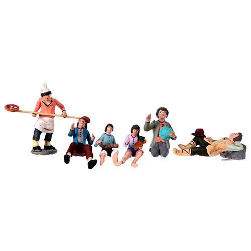Personajes belén terracota 10 cm de altura media belén napolitano set 36 piezas 7