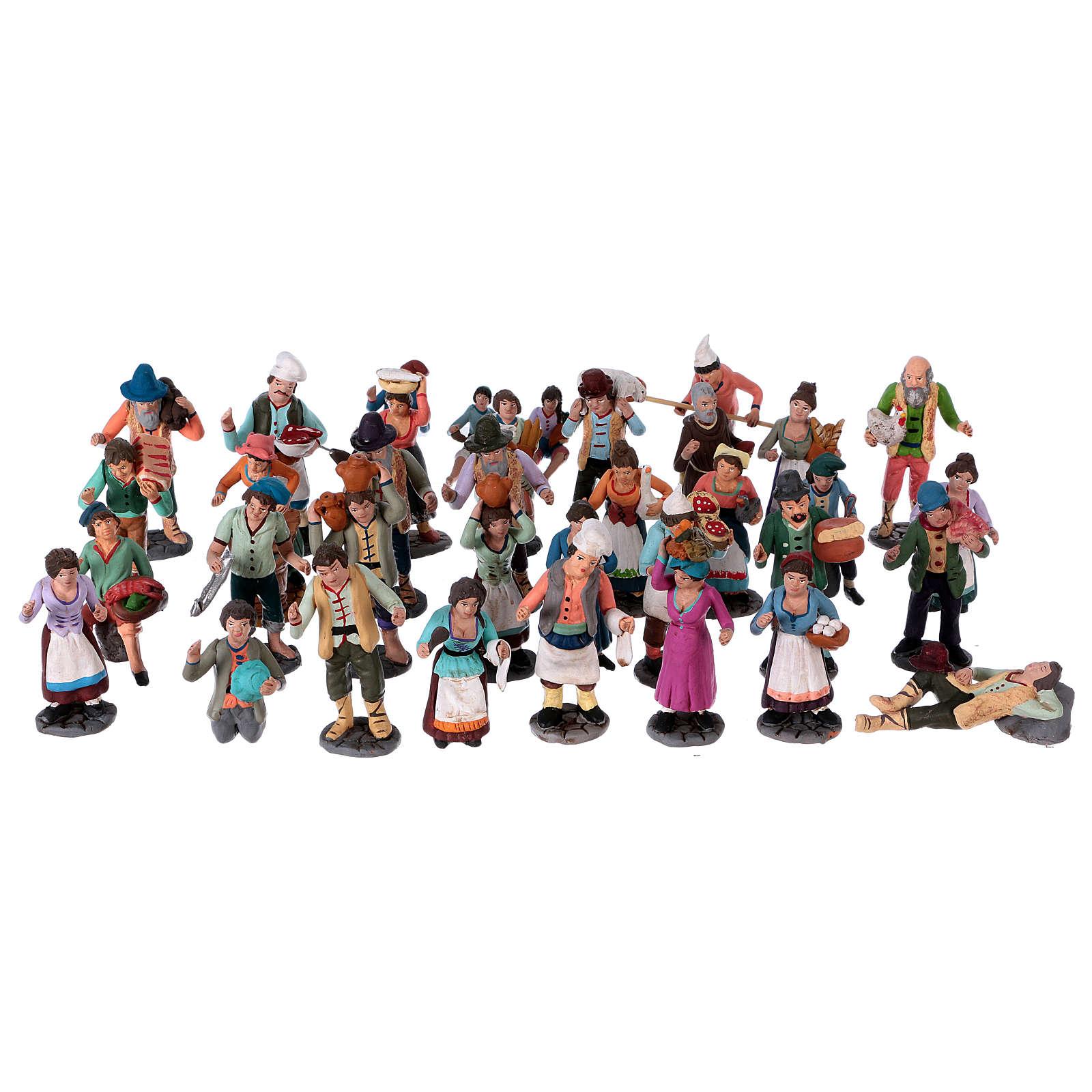 Personaggi presepe terracotta 10 cm presepe napoletano set 36 pz 4