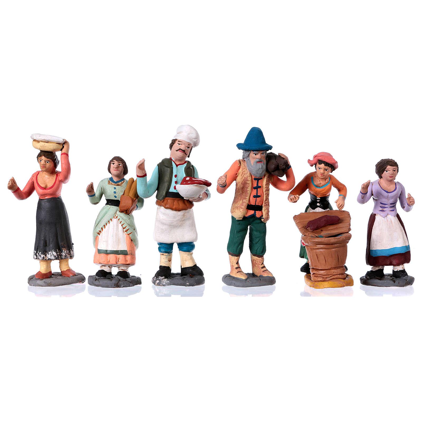Neapolitan Nativity Scene 10 cm terracotta figurines, set of 36 4
