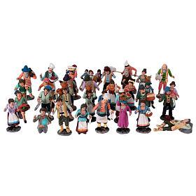Neapolitan Nativity Scene 10 cm terracotta figurines, set of 36 s1