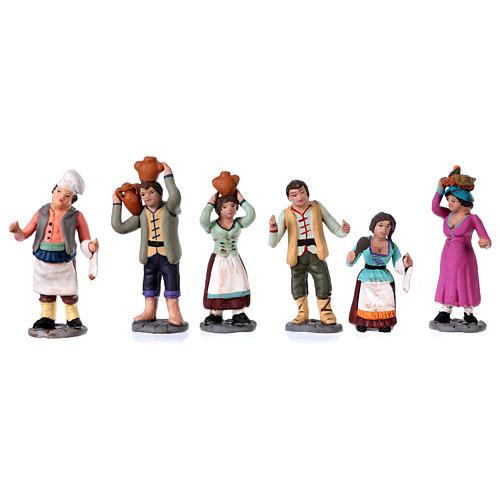 Neapolitan Nativity Scene 10 cm terracotta figurines, set of 36 2