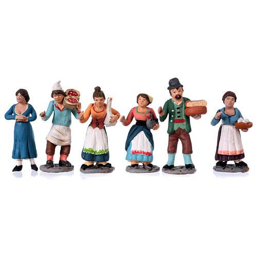 Neapolitan Nativity Scene 10 cm terracotta figurines, set of 36 3