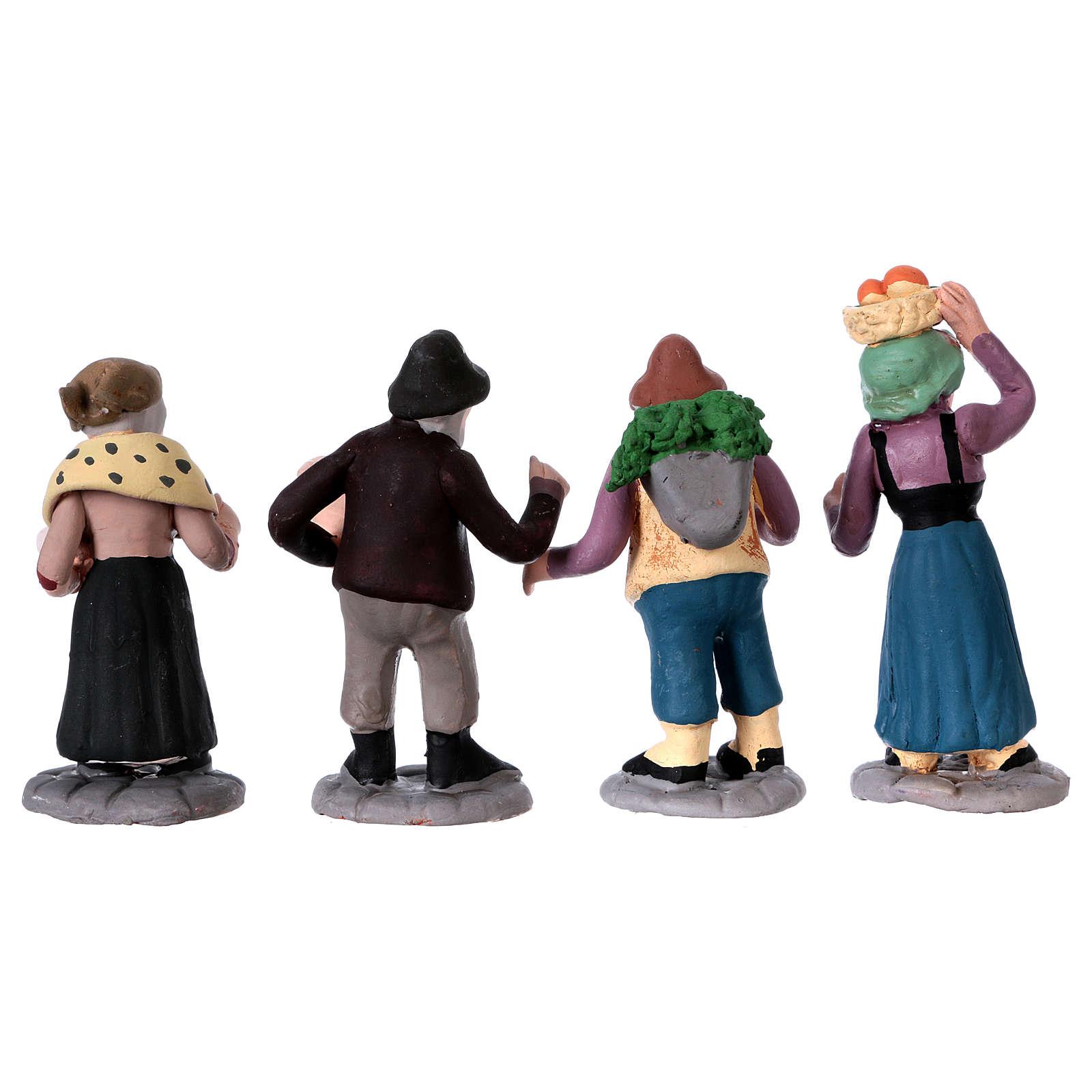 Nativity Scene figurines in terracotta real height 7 cm for Neapolitan Nativity Scene 36 pieces 4
