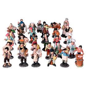 Nativity Scene figurines in terracotta real height 7 cm for Neapolitan Nativity Scene 36 pieces s1