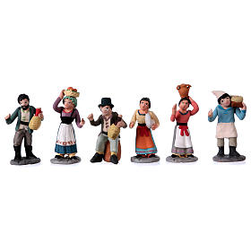 Nativity Scene figurines in terracotta real height 7 cm for Neapolitan Nativity Scene 36 pieces s4