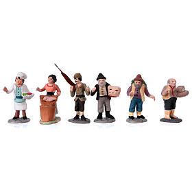 Nativity Scene figurines in terracotta real height 7 cm for Neapolitan Nativity Scene 36 pieces s6