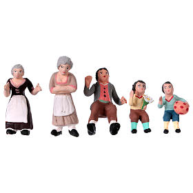 Nativity Scene figurines in terracotta real height 7 cm for Neapolitan Nativity Scene 36 pieces s8