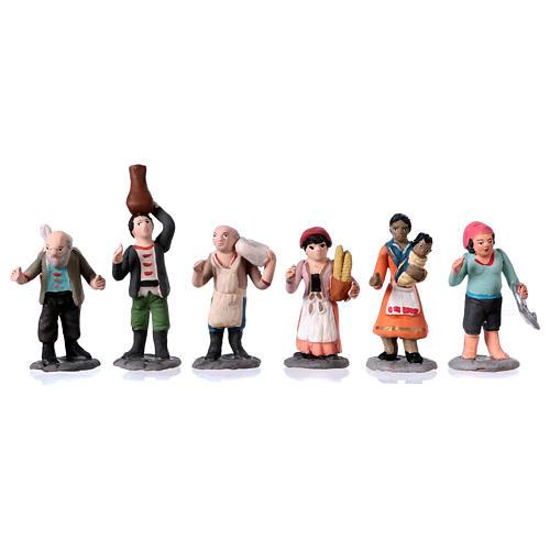 Nativity Scene figurines in terracotta real height 7 cm for Neapolitan Nativity Scene 36 pieces 3