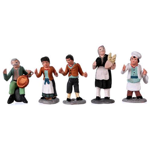 Nativity Scene figurines in terracotta real height 7 cm for Neapolitan Nativity Scene 36 pieces 5