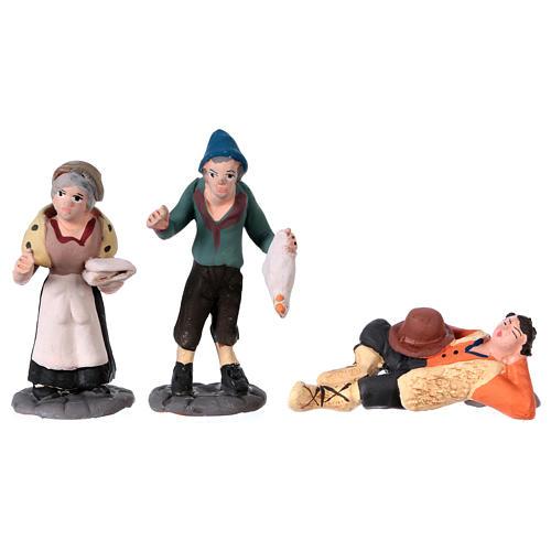 Nativity Scene figurines in terracotta real height 7 cm for Neapolitan Nativity Scene 36 pieces 7