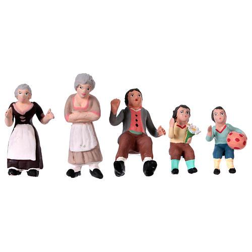 Nativity Scene figurines in terracotta real height 7 cm for Neapolitan Nativity Scene 36 pieces 8