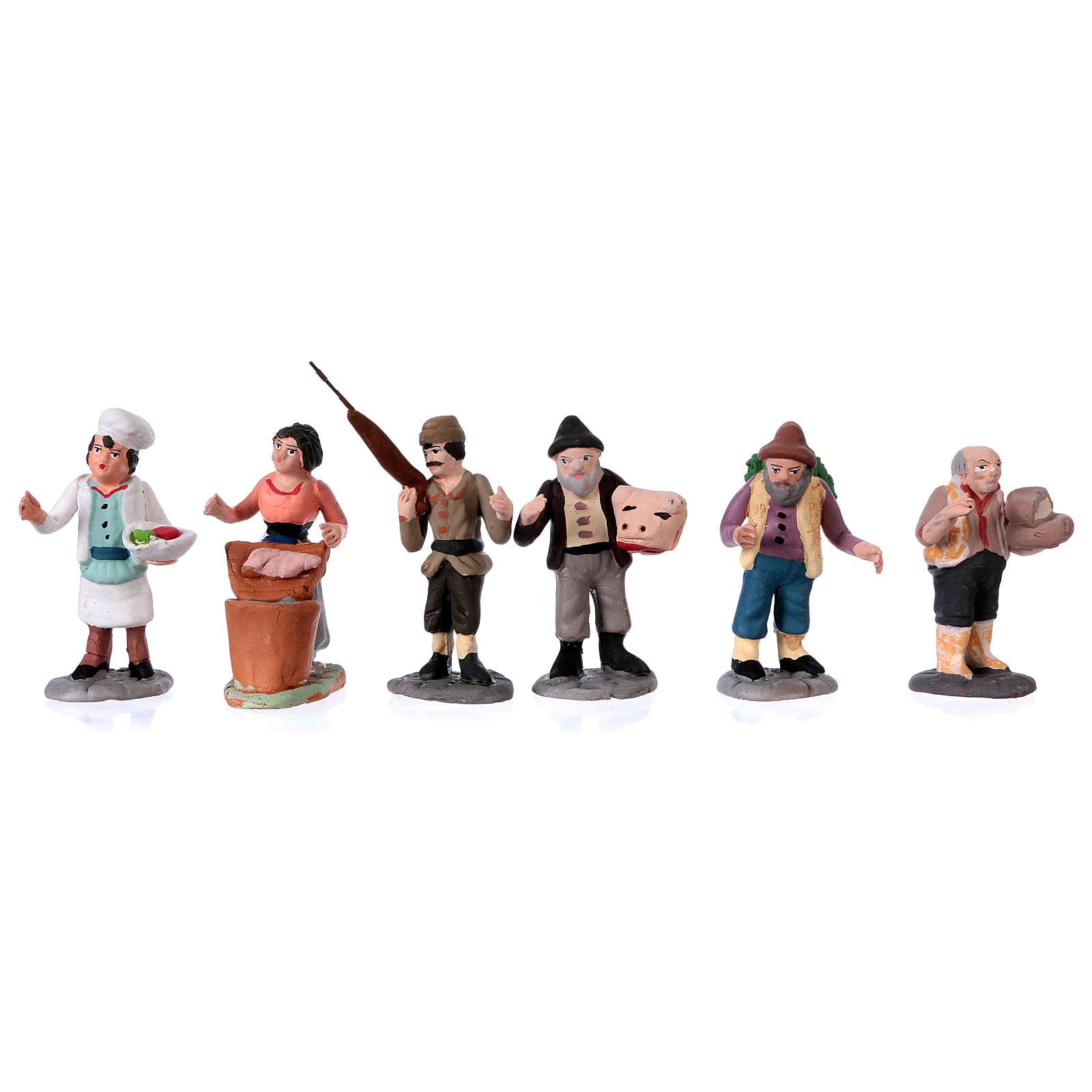 Neapolitan Nativity Scene 7 cm terracotta figurines, set of 36 4