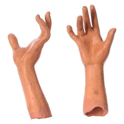 Mani testa piedi terracotta Madonna 35 cm 4