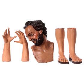 Testa mani piedi presepe S. Giuseppe 35 cm  s1