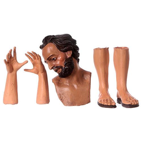 Testa mani piedi presepe S. Giuseppe 35 cm  1