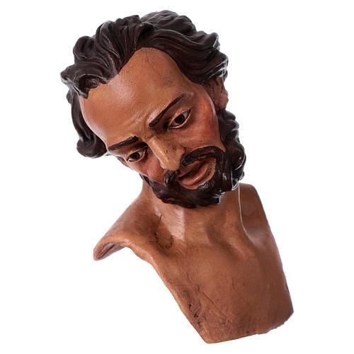 Testa mani piedi presepe S. Giuseppe 35 cm  2