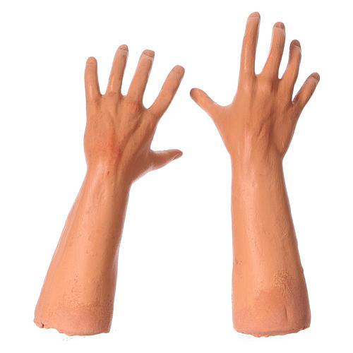 Testa mani piedi presepe S. Giuseppe 35 cm  4
