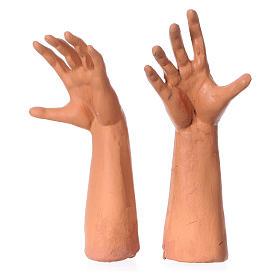 Testa, mani, piedi occhi vetro Magio ginocchio 35 cm s4