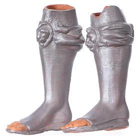Testa, mani, piedi occhi vetro Magio ginocchio 35 cm s5