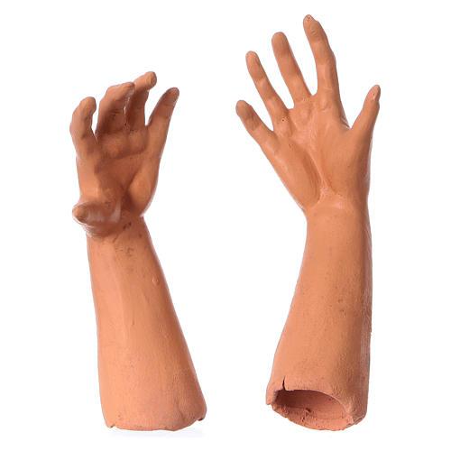 Mani testa piedi terracotta Pifferaio 35 cm 4