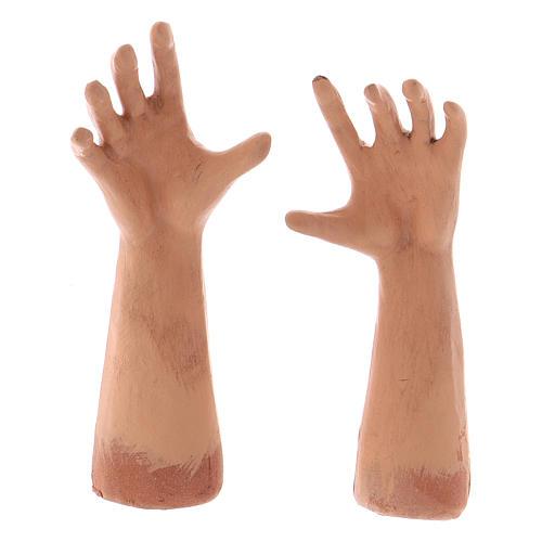 Testa occhi di vetro mani piedi Donna Mora 35 cm 3