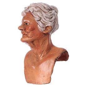 Testa mani e piedi per statua donna presepe 35 cm s2